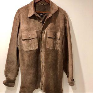 Suede shirt jacket / chore coat